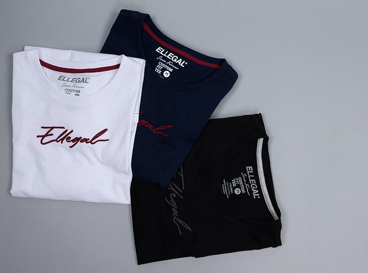 3 Ellegal branded t shirts